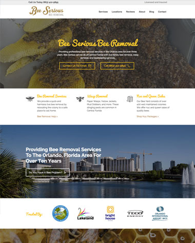 bee-serious-bee-removal-website-design