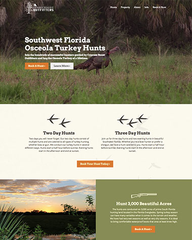 hunting-website-design