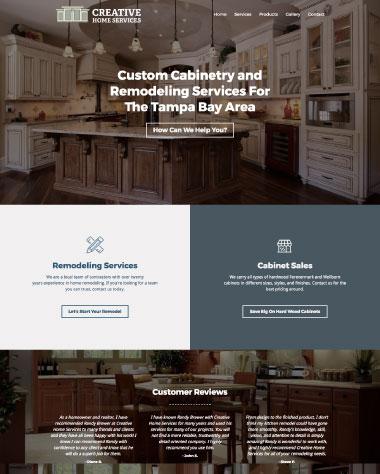 chs cabinets web design