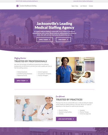 custom healthcare website design