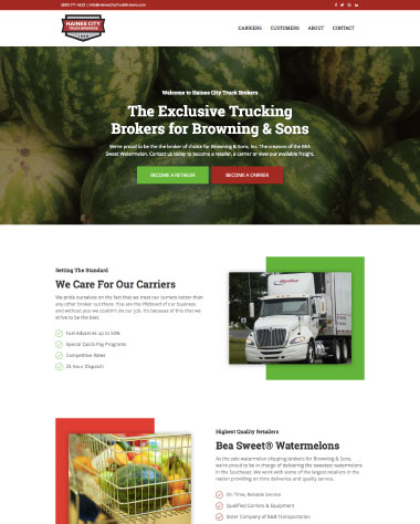 Haines City Truck Brokers Website Design