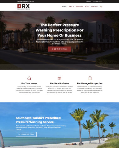 pressure washing website design
