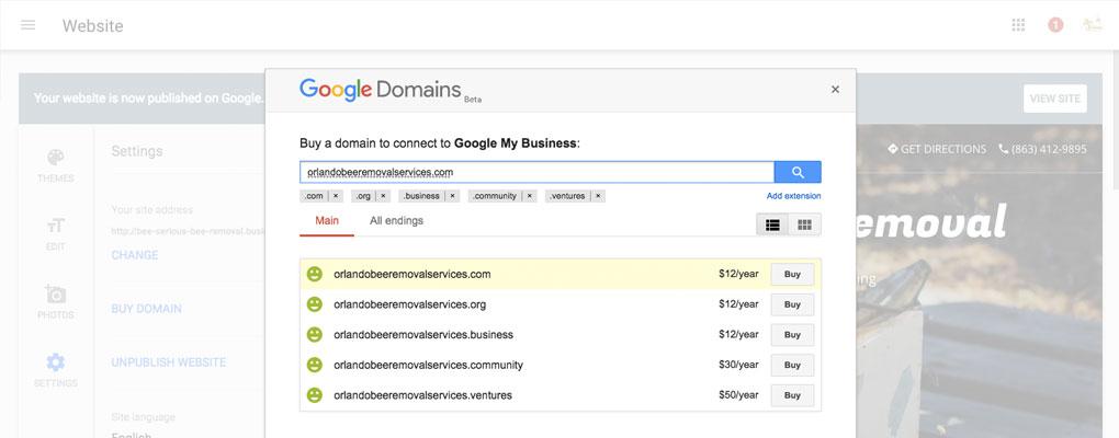GMB Domains
