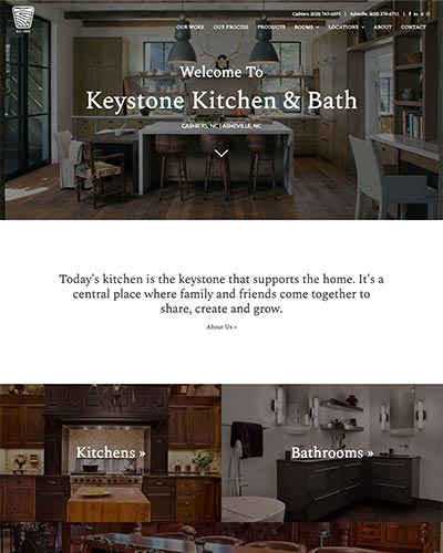 keystone kb website design