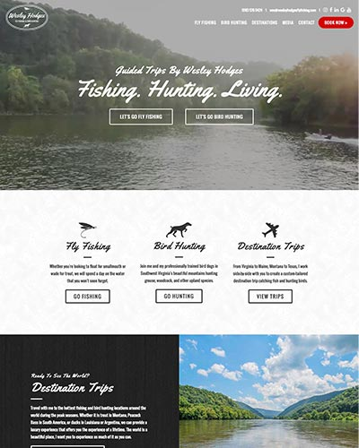 wesley hodges fly fishing website design